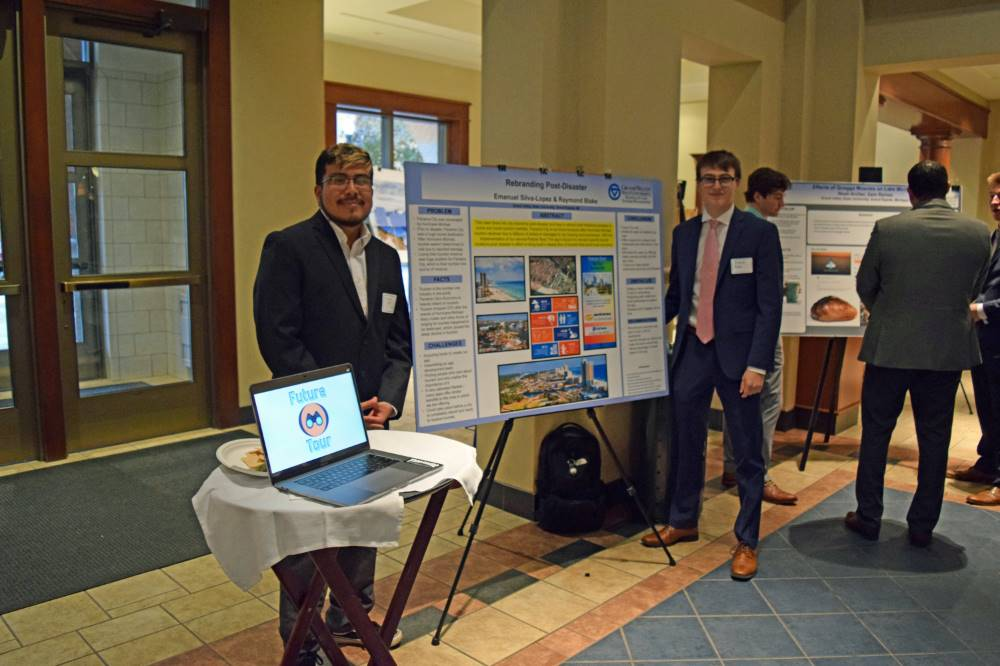 Emanual Silva-Lopeza and Raymond Blake with their poster